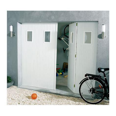 porte de garage 4 vantaux pvc 200 x 240 hublots helsinki castorama