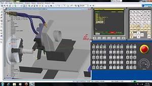 Simple Programming Simulation Fanuc CNC Machine - YouTube
