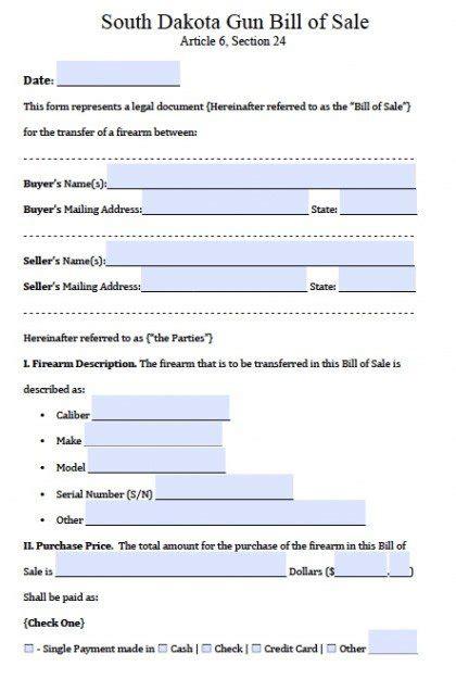 colorado dmv non resident form free south dakota firearm bill of sale form pdf word