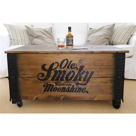 prista table basse coffre en bois table d appoint vintage style shabby chic bois massif noyer