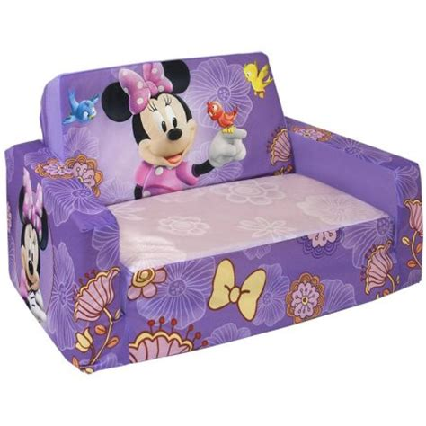 marshmallow flip open sofa with slumber disney s minnie mouse walmart