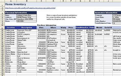 Download A Free Homeinventory Spreadsheet Pcworld