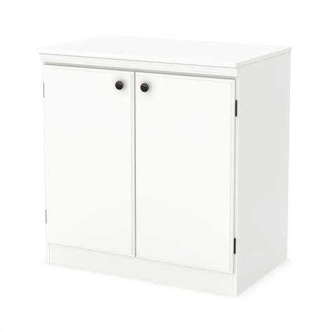 south shore 2 door storage cabinet in white 7260722