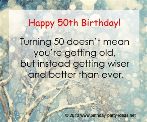 50th Birthday Quotes And Sayings Quotesgram