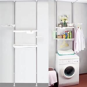 Regal Für Waschmaschine : teleskopregal badregal waschmaschine regal mit ablagen wc bad steckregal bz4109 ebay ~ Markanthonyermac.com Haus und Dekorationen