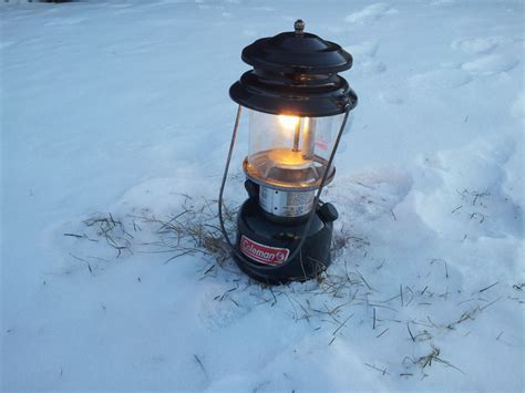 gallery of lights misc fixtures coleman 286 single mantle gas lantern in the harsh cold of canada
