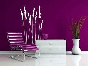 Wandgestaltung Schlafzimmer Lila : wandtattoo stilvolle gr ser von ~ Markanthonyermac.com Haus und Dekorationen