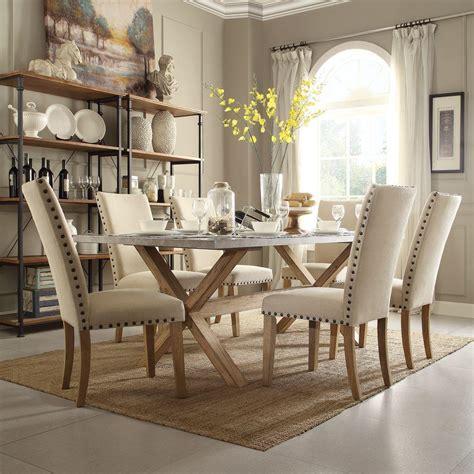 Homesullivan Upton 7piece Weathered Light Oak Dining Set