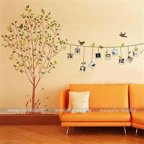 removable photo frame tree vinyl wall sticker decal