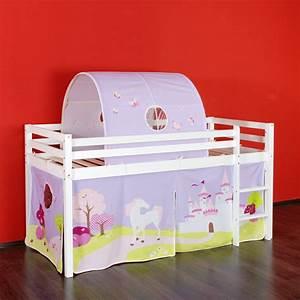 Vorhang über Bett : bett hochbett spielebett lattenrost vorhang tunnel prinzessinnen land ebay ~ Markanthonyermac.com Haus und Dekorationen