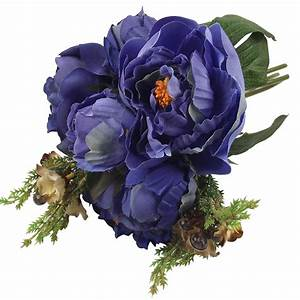 Hand Tied Large Peony Bundle Artificial Flower Bunch ...