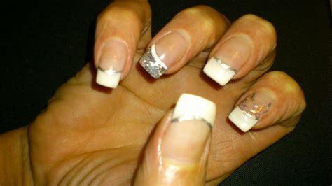 remplissage blanche paillet 233 e argent avec liner blanc et argent ongles en beaut 233