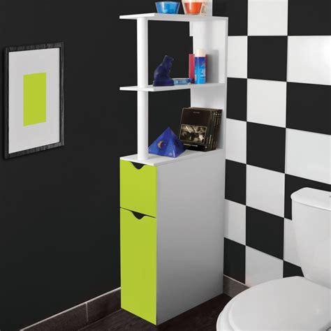 meuble wc 233 tag 232 re bois gain de place pour toilette 2 portes vertes