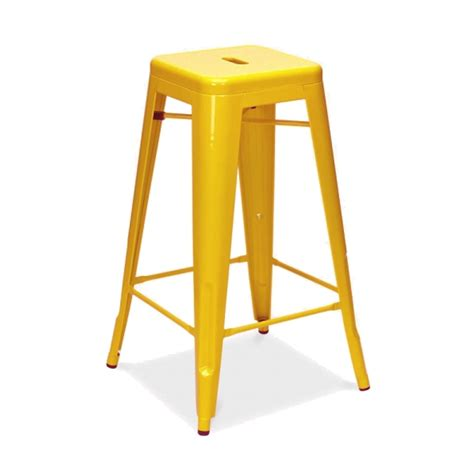 tabouret de bar en m 233 tal inspiration tolix couleur jaune mobilier magasin de d 233 co et cadeaux