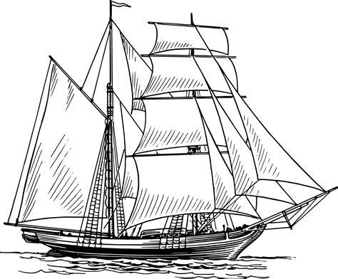How To Draw A Old Boat by Historical Sailing Ships And Boats Coloring Pages Clip