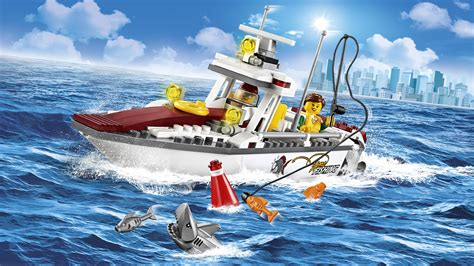 Toy Lego Boat by Lego City Fishing Boat 60147 Creative Play Toy