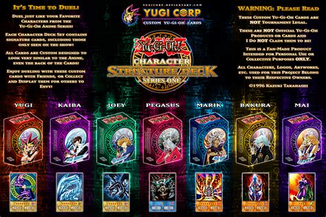 character structure decks complete poster update by yugicorp on deviantart