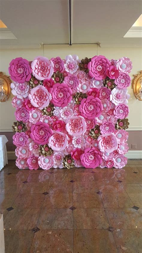 Wall Flowers Decor by Best 25 Flower Decoration Ideas On Pinterest Events