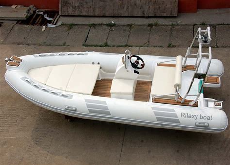 Inflatable Boat With Rigid Floor by Double Layer Frp Hull Rigid Inflatable Boat With Natural