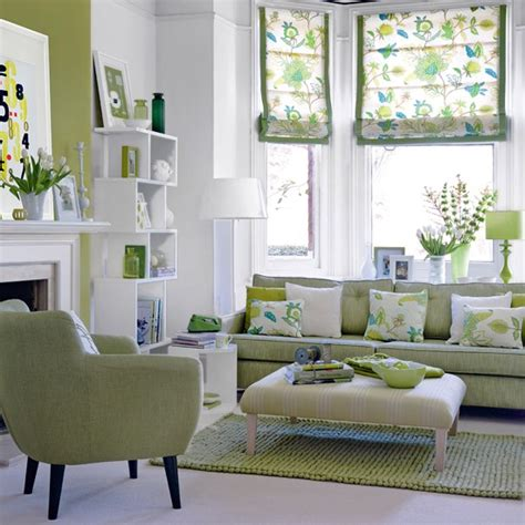 statement sofa in lime with a hint of mint green teamed