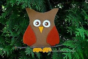 Basteln Im Herbst : basteln im herbst mit kindern eule fensterbild aus filz ~ Markanthonyermac.com Haus und Dekorationen