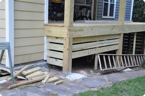 deck skirting porches and decks on