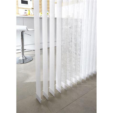 5 lamelles verticales orientables perle blanc l 40 x h 260 cm leroy merlin