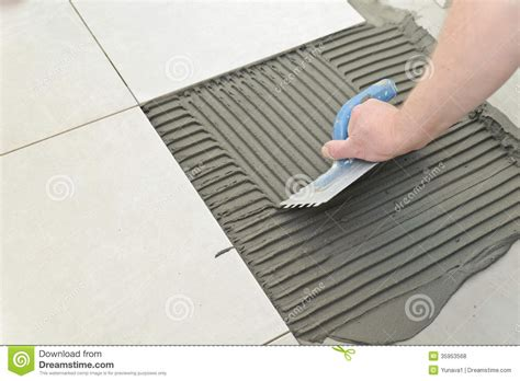 laying ceramic tiles royalty free stock photos image 35953568