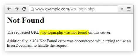 [solved] The Requested Url /wp-login.php Was Not Found On