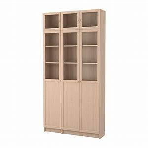 Ikea Billy Vitrine : billy oxberg combi biblioth que vitrines plaqu ch ne blanchi verre ikea ~ Markanthonyermac.com Haus und Dekorationen