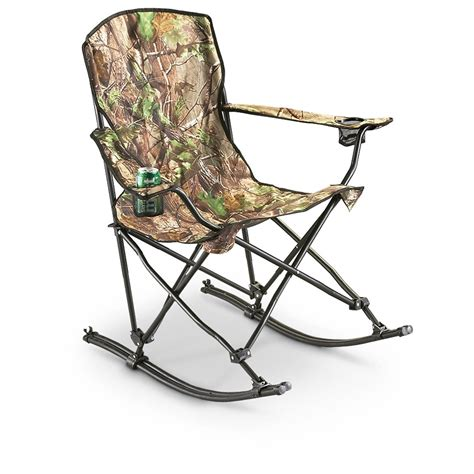 Csmart Folding Rocking Chair by Stansport Team Realtree 174 Folding Rocking Chair 178647
