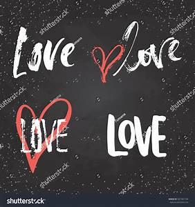 Set Hand Drawn Saint Valentines Day Stock Vector 567467104 ...