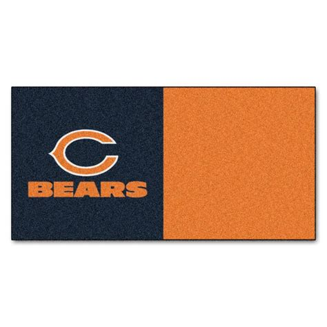 trafficmaster nfl chicago bears orange and blue 18 in x 18 in carpet tile 20 tiles