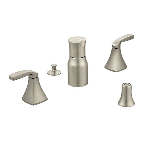 moen voss 2 handle bidet faucet trim kit in brushed nickel
