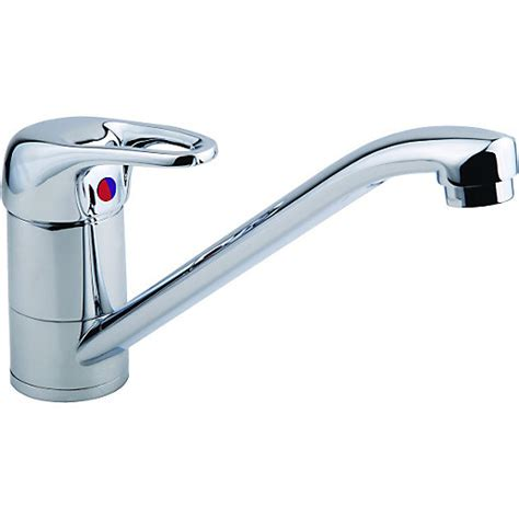 Wickes Messina Mono Mixer Kitchen Sink Tap Chrome Finish