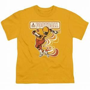 Atari Kids Shirt Football Player Gold T-Shirt - Atari ...