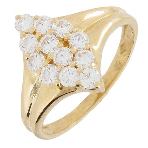 bague marquise diamants 0 72 carat en or jaune occasion