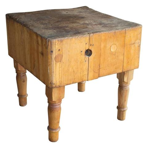 Antique French Butcher's Block At 1stdibs