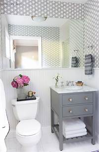 small bathroom makeovers My Secret Weapon for Wallpapering Your Bathroom!   Driven ...