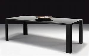 Table Big Irony Black Glass / Verre - L 200 cm L 200 cm ...