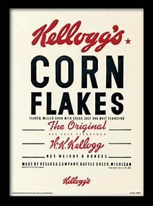 Vintage Kelloggs - Corn Flakes rámovaný obraz na zeď ...