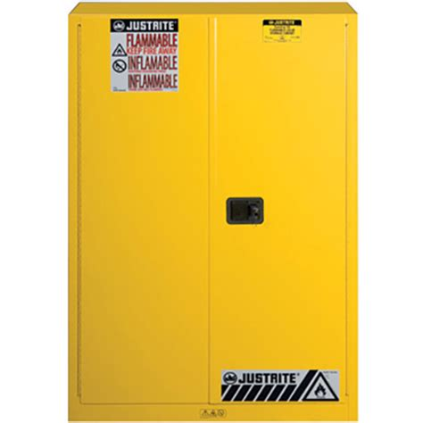 justrite 894500 sure grip ex flammable safety cabinet 45 gallon 2 shelves 2 manual