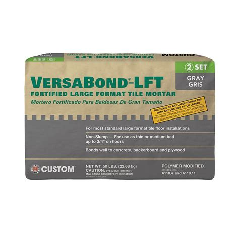 versabond thinset for porcelain tile custom building products simpleset white 1 gal pre mixed