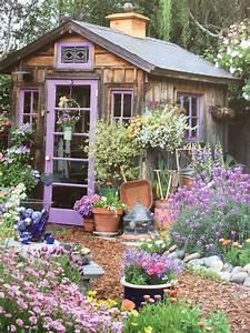 Gartenhaus Shabby Chic : love the shabby chic shed gartenhaus pinterest garten garten ideen und gartenhaus ~ Markanthonyermac.com Haus und Dekorationen