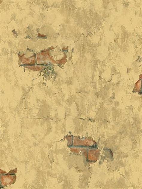 Plastered Tuscan Brick Wallpaper  Mediterranean
