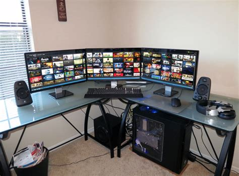 20 Cool Computer Arrangements For Gamers  Home Design And. Small Black Coffee Table. Table Glass Replacement. Entryway Table And Mirror Set. Round Dining Table White. Single Drawer Desk. Antique Drop Front Secretary Desk With Hutch. Great Coffee Table Books. Solid Wood Table Top