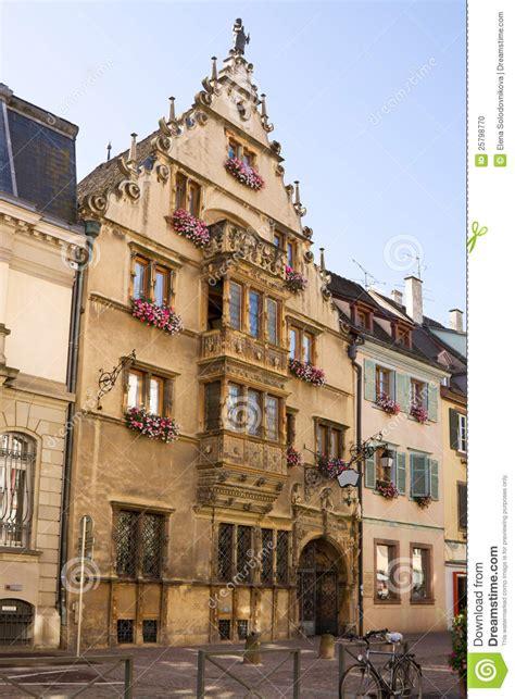 mooi middeleeuws huis in colmar stad frankrijk stock foto afbeelding 25798770