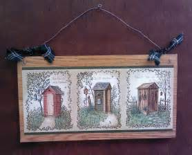 14 quot primitive bathroom wall hanging outhouse bath decor outhouses picture new ebay