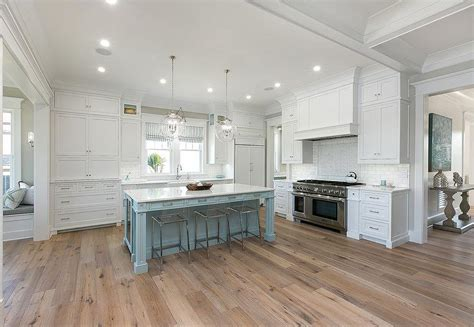 White Cabinets With Powder Blue Kitchen Island And Sawn Cheap Kitchen Islands With Seating Summer Plans True Newport Beach California Pizza Charlotte How To Choose Colors Utensil Hanger Lego Set Grills