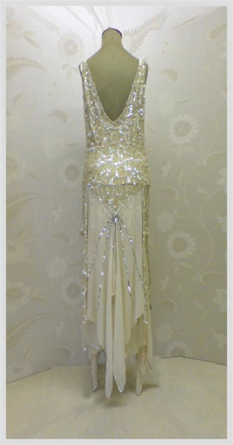 gold silver sequin 1920s art deco flapper dress jfd once wed